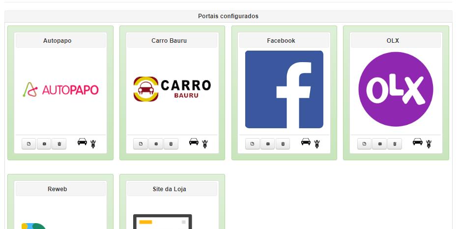 integrador de anúncios página de portais integrados